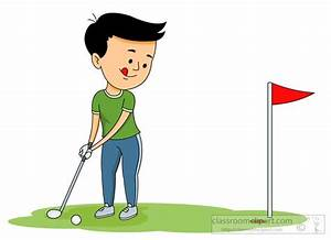 Golf Clipart Clipart- playing-golf-putting-the-ball-into ...