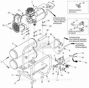 Campbell Hausfeld Wl504111 Parts Diagram For Air
