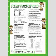 Present Simple  Worksheet  Kindergarten Level  Learn English For Kids  Exercícios De Inglês