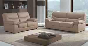 Salons moderne cuir confortable haut dossier sur univers for Salon moderne cuir