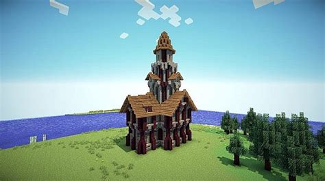 medieval tower house minecraft map
