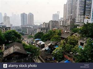 Chongqing, China - The view of famous old shanty town ...