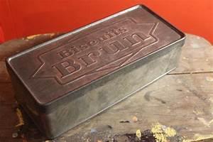 Boite à épices : ancienne bo te m tal biscuits brun vintage by fabichka ~ Teatrodelosmanantiales.com Idées de Décoration