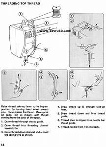 Kenmore 385 16951 Sewing Machine Threading Diagram