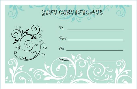 yoga gift certificate template  printable birthday