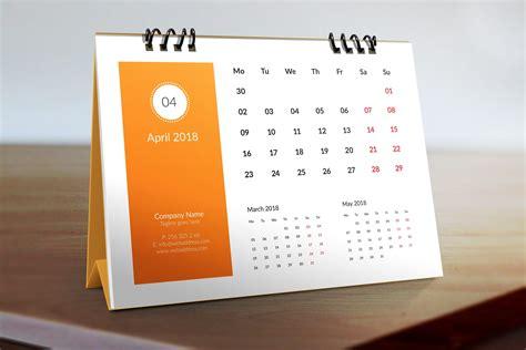 Office Desk Calendar by April 2018 Desk Calendar Printable 2018 Calendars 2018