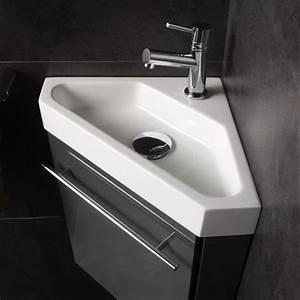 Petit Lave Main D Angle Wc : lave mains d 39 angle complet pour wc avec meuble couleur ~ Premium-room.com Idées de Décoration