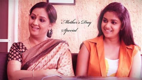tamil actress keerthi suresh mother photos yesteryear actress menaka and her daughter keerthi suresh