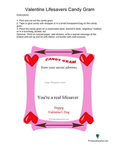 Candy Gram Template Just B Cause