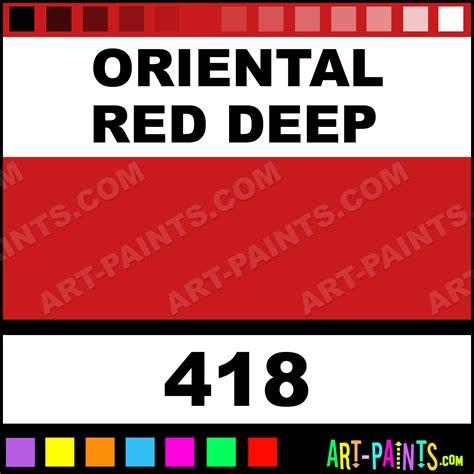 oriental red deep pebeo oil paints 418 oriental red