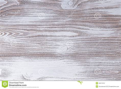 Wood Surface Painted With White Acrylic Paint Stock Photo
