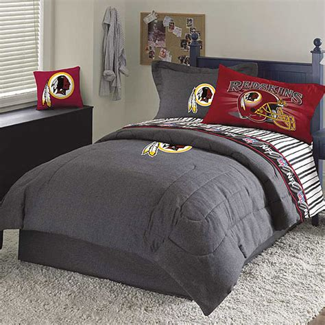 washington redskins nfl team denim queen comforter sheet set