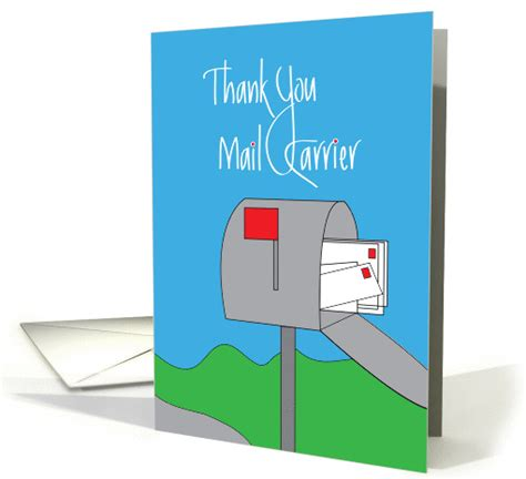 thanks mail carrier warming up thank a mail carrier day mailbox with sted letters card 1276128