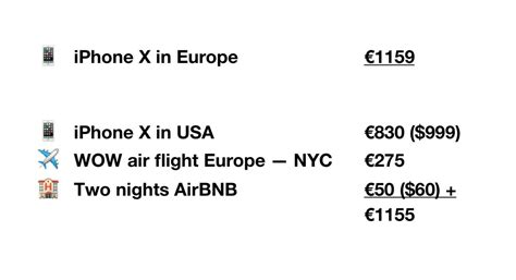 using iphone in europe flying to us to get an iphone x is cheaper than buying in