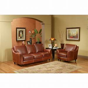 Omnia furniture great texas leather sofa reviews wayfair for Interior design home furnishing stores review