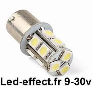 Ampoule Led 12 Volts Voiture : ampoule r10w p21w ba15s 13 leds blanches 9 30 volts led effect ~ Medecine-chirurgie-esthetiques.com Avis de Voitures