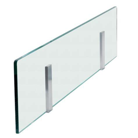bureau transparent design crédence en verre pour îlot de cuisine