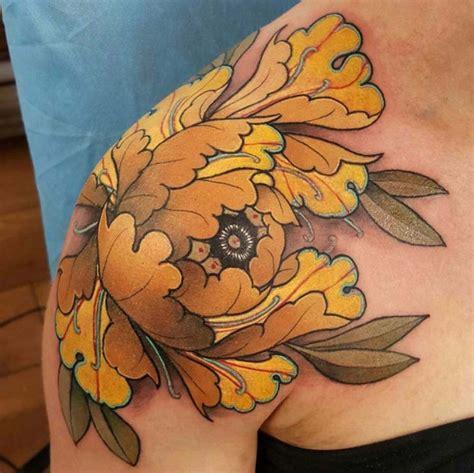Japanese Flower Shoulder Tattoo  Best Tattoo Ideas Gallery