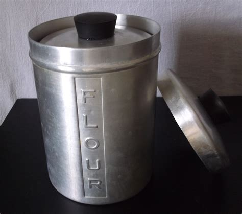 Vintage Metal Kitchen Canisters by Vintage Metal Kitchen Canisters Aluminum Flour Sugar