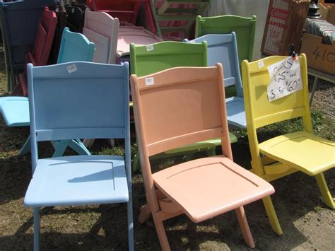 painted wooden folding chairs we thought would look so