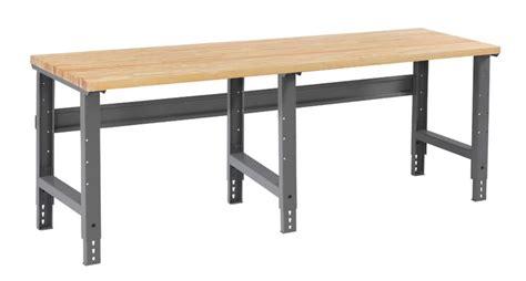 tennsco adjustable height workbench wba 1 3096w