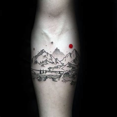 small nature tattoos  men outdoor ink design ideas