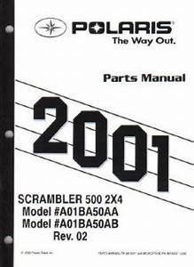 2001 Polaris Scrambler 500 2 U00d74 Parts Manual
