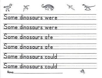 dinosaur handwriting prompt paper   images