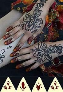 Henna Tattoo Schablonen : henna tattoo schablonen f r h nde f e schulter dekollet tempor re glitter tattoos sets ~ Frokenaadalensverden.com Haus und Dekorationen