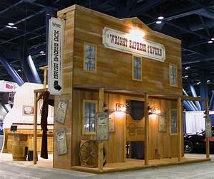 Saloon themed tradeshow display JK Designs