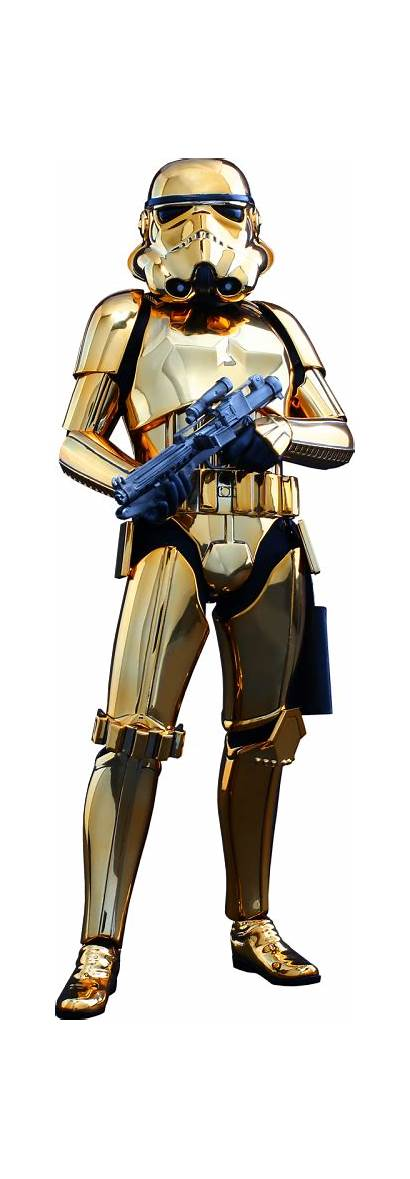Stormtrooper Gold Wars Star Chrome Figure Scale