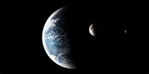 Wallpaper Earth Moon Planet Space Digital Art