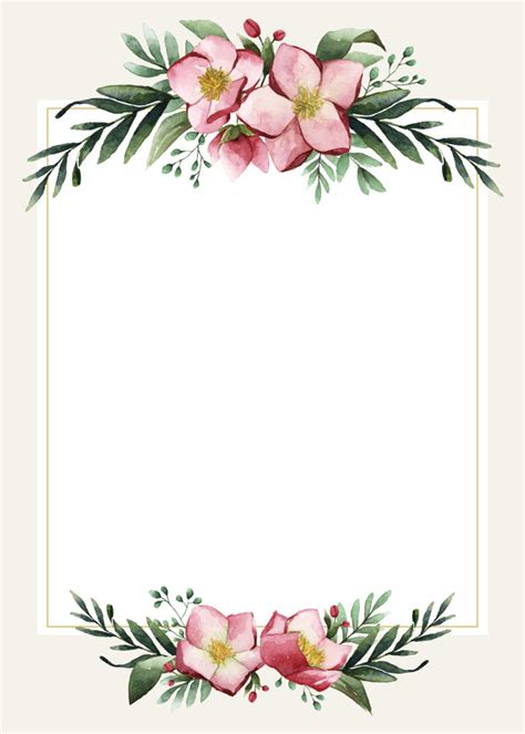 vector blank wedding card design