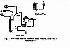 2000 Ford Explorer  Complete Vacuum Hose Diagram  W  5 0  Awd