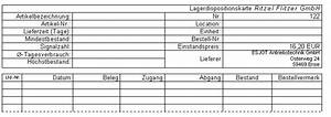 Mindestbestand Berechnen : fachtheorie bung 2 lagerdispositionskarte ~ Themetempest.com Abrechnung