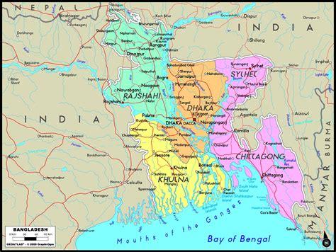 Bangladesh Political Wall Map