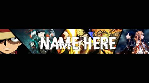 Anime Channel Banner Template Anime Banner Template Psd Photoshop Cs6