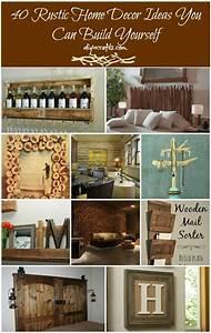 40, Diy, Rustic, Home, Decor, Ideas