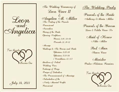 wedding order  service template  sampletemplatess