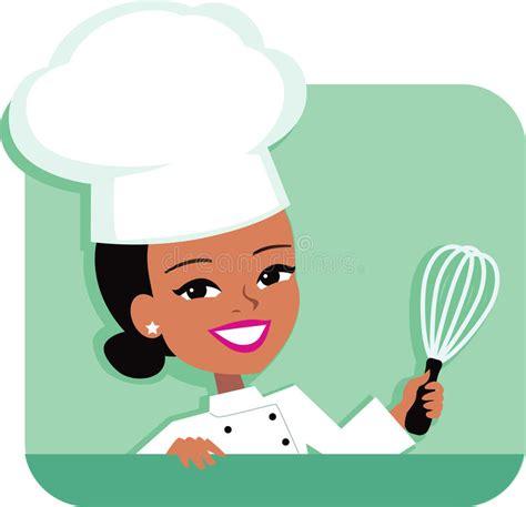 chef cuisine femme chef illustration de cuisine de la participation de femme illustration de vecteur