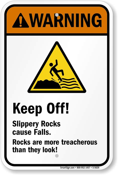 Floor Crane by Slippery Rocks Cause Falls Rocks Are More Treacherous