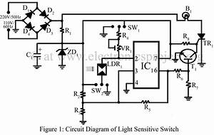 light sensitive switch electronics project With wiring diagram further motion sensor light wiring diagram additionally