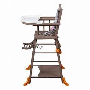 Chaise Haute Bébé Design : chaise haute transformable laqu taupe combelle design b b ~ Teatrodelosmanantiales.com Idées de Décoration