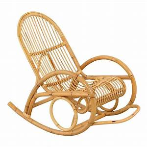 Rocking Chair Madih Pour Adulte En Rotin Achat / Vente