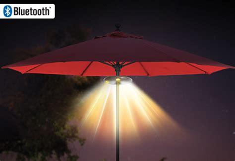 bluetooth patio umbrella speaker light sharper image