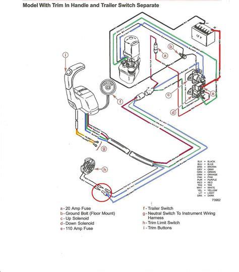 mercruiser pre alpha trim senders wiring schematic page 1
