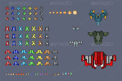 great full game sprite sheets  graphicriver