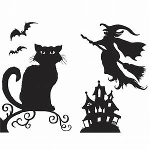 halloween silhouettes halloween decorations With halloween window silhouettes template