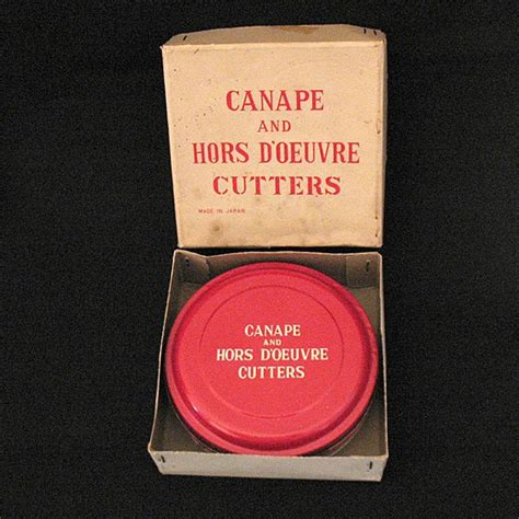 canape hors d oeuvres vintage collectible 12 canape hors d 39 oeuvre cutters