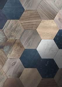 Carrelage Mural Hexagonal : 25 best ideas about wood tiles on pinterest flooring master bath remodel and d co pinterest ~ Carolinahurricanesstore.com Idées de Décoration